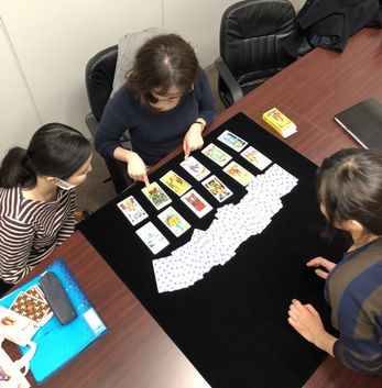 教室の様子】福岡校 タロット占い講座Part1