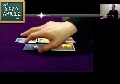 【オンライン講座の様子】タロット「打倒リバースカード」