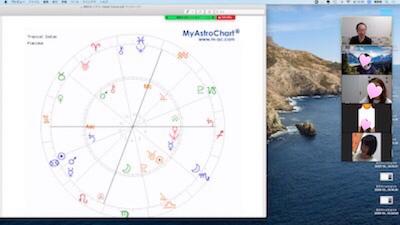 【教室の様子】銀座校&Zoom 西洋占星術講座(4回コース第2講)