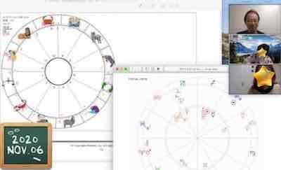 【教室の様子】Zoom 西洋占星術講座Part1,2(4回コース第1講)