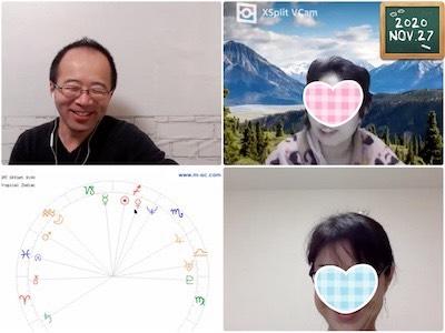 【教室の様子】Zoom 西洋占星術講座Part2(4回コース第4講)