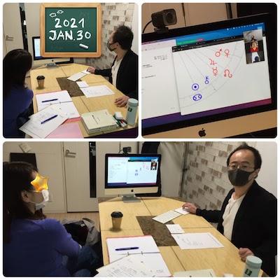 【教室の様子】銀座&Zoom ホロスコープ 実践プログレッション未来予測