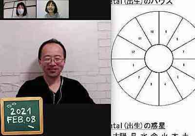 【教室の様子】Zoom 西洋占星術講座Part1(4回コース第2講)