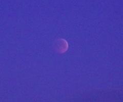 皆既月食 2015年4月4日